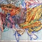 History, acquerello su carta stampata, cm 18x12, 2012