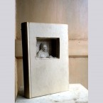 Uomo che guarda fuori, libro d'artista, 2012