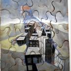 Cittadino, Terracotta policroma, cm 45x60, 2013