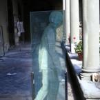 Viandante, tecnica mista, h cm 180, 2012