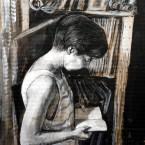Portrait of reading woman