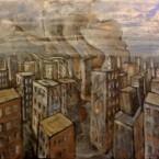 Gods escaping through the city